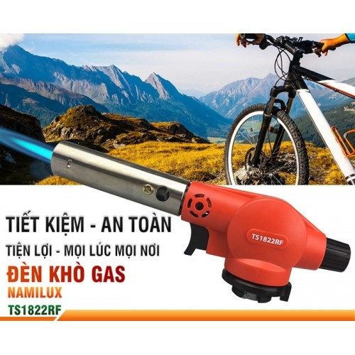 Đèn khò gas mini NAMILUX TS1822RF - Sử dụng lon gas mini