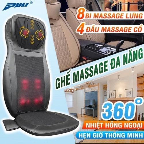Ghế đệm massage toàn thân hồng ngoại ô tô Puli PL-802B
