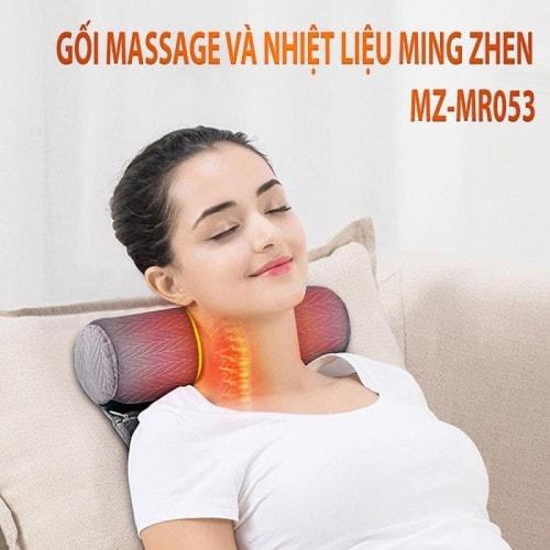Gối massage cổ tạo nhiệt nóng và rung MingZhen MZ-MR053