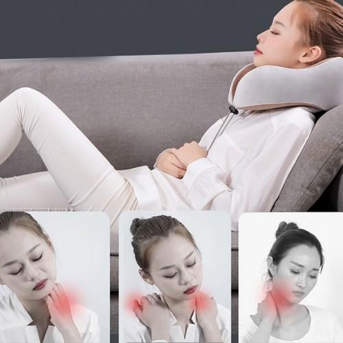 Gối ngủ massage tạo nhiệt trị đau mỏi cổ pin sạc Nhật Bản YIJIA YJ-818