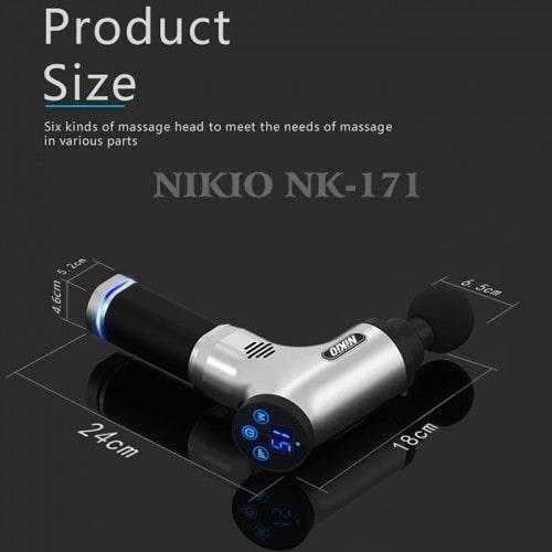 Súng massage Gun trị đau nhức giảm căng cơ Nhật Bản Nikio NK-171 - Bạc