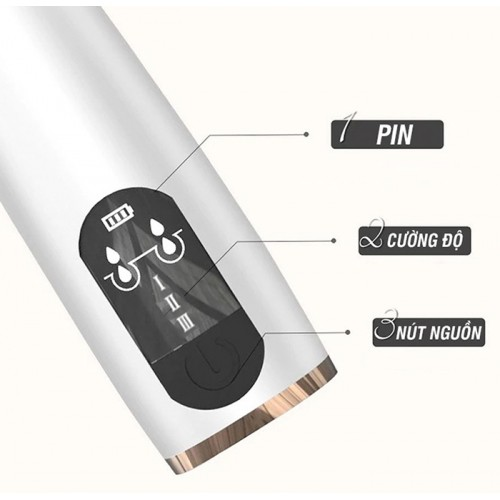 Máy hút mụn mini pin sạc 3 đầu Blackhead Instrument giá rẻ