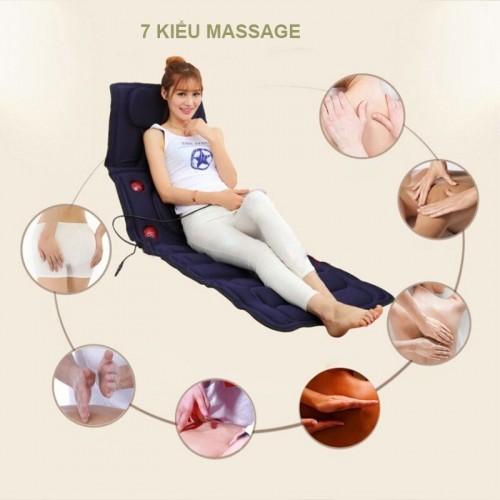 Nệm (đệm) massage toàn thân đèn hồng ngoại cao cấp JB-618A