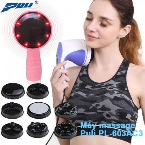 Máy massage cầm tay toàn thân 8 đầu Puli PL-603AC3 - Điện tử
