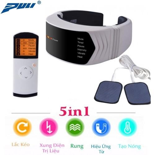 Máy massage cổ pin sạc PULI PL-758 - Xung điện trị liệu, rung và nóng