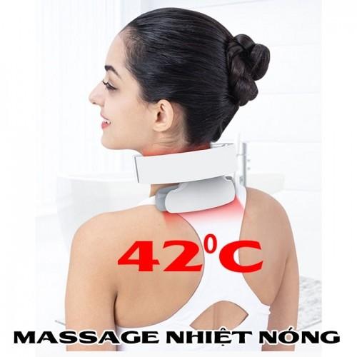 Máy massage cổ pin sạc xung điện trị liệu đau mỏi cổ Mingzhen MZ-N5