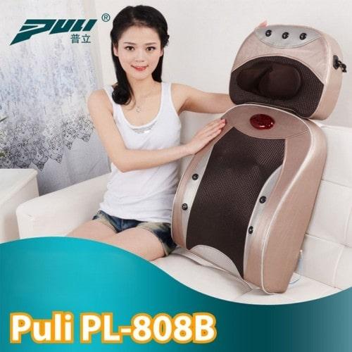 Máy massage đấm lưng và cổ 2in1 hồng ngoại Puli PL-808B