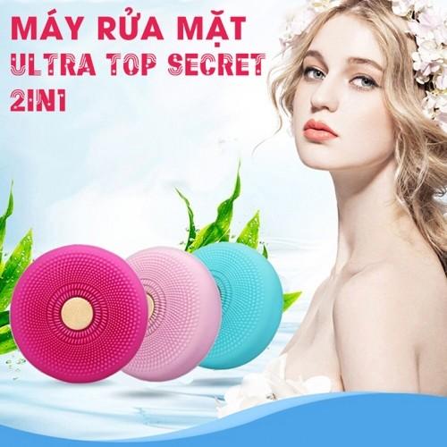 Máy massage rửa mặt kết hợp chăm sóc da bằng ánh sáng sinh học 2in1 Ultra Top Secret
