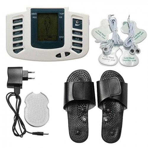 Máy massage xung điện trị liệu 6 miếng dán và massage bàn chân JR-309A