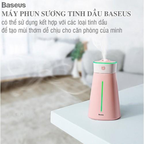 Máy xông tinh dầu mini có đèn ngủ 7 màu Baseus LJH-021