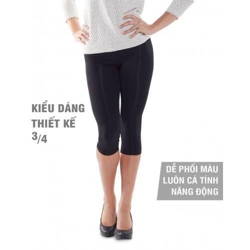 Quần legging định hình giảm size và ngăn chặn da sần Lanaform Cosmetex 3/4 LA014004