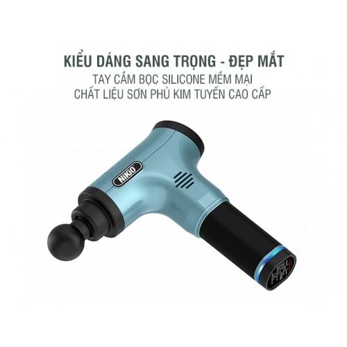Súng massage cầm tay điều trị đau nhức căng cơ NIKIO NK-172 - Xanh ngọc
