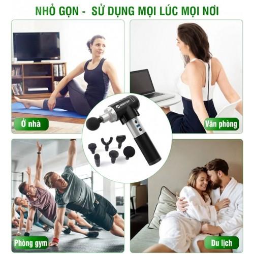 Súng massage cầm tay cao cấp Mỹ Booster PRO 2 - 135W, 9 cấp độ mát xa