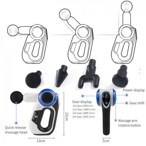 Máy massage gun chỉnh góc 90 độ cao cấp Mỹ Booster S - 120W