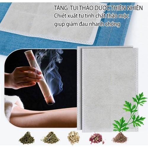 Túi chườm nóng muối biển Mingzhen MZ-MR037 - Tặng gói thảo dược thiên nhiên