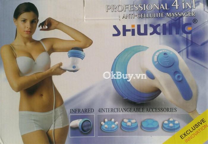 Máy massage cầm tay đèn hồng ngoại ShuXine