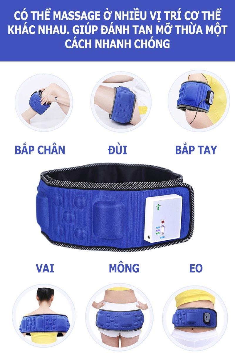 đai massage bụng x5 pin sạc