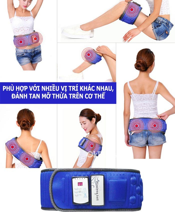 Đai massage bụng X5 Wireless Belt