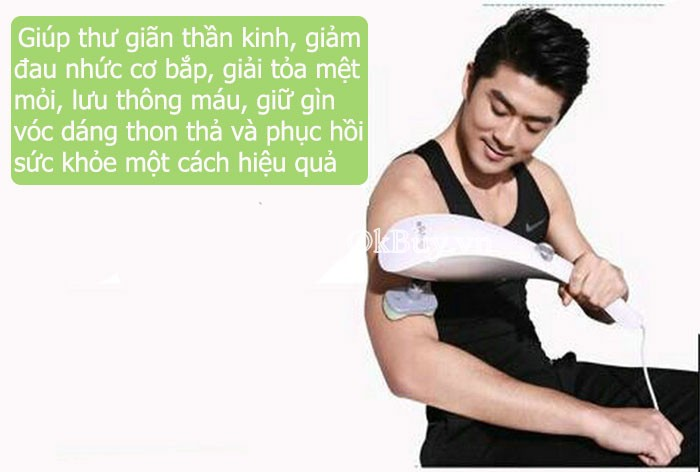 Máy massage cầm tay thông minh 11 đầu Luxurious Bluedea 111 - OKBUY.vn