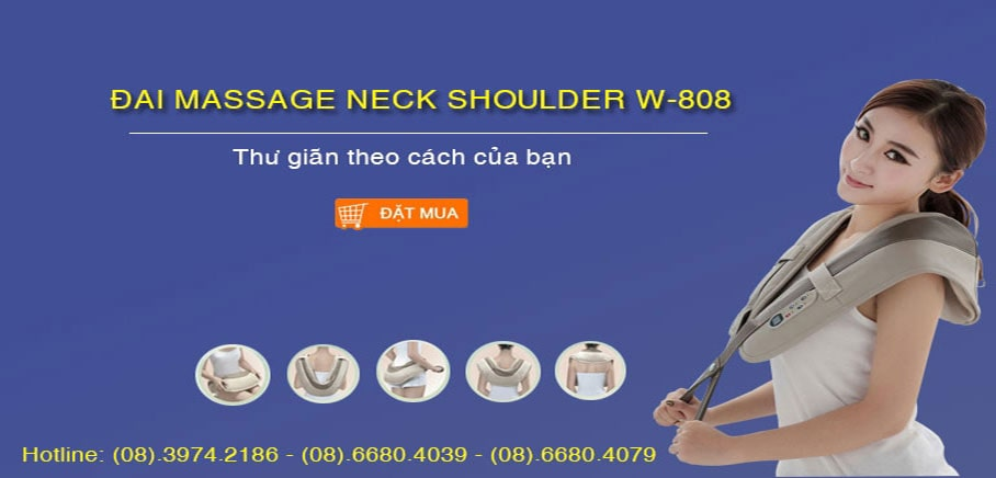 Đai massage Neck Shoulder Massager W-808