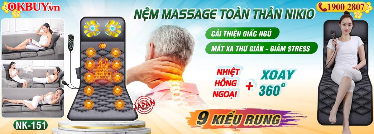 Nệm massage toàn thân Nikio NK-51