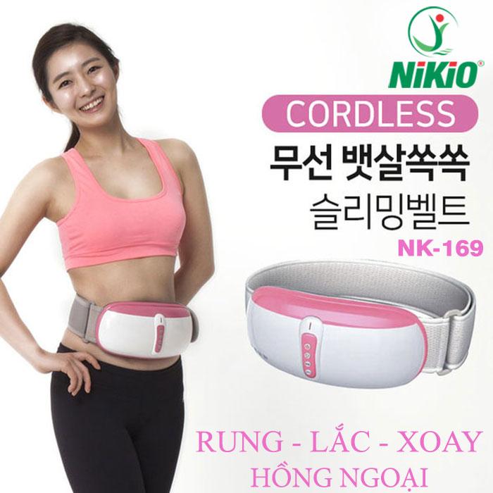 Video Review Đai (máy) massage bụng rung lắc và xoay giảm mỡ thừa Nikio NK-169