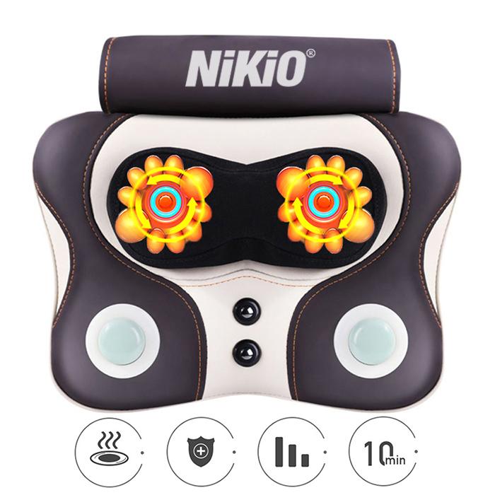Video review máy massage xoa bóp cổ vai gáy và đấm bóp lưng Nikio 136AC