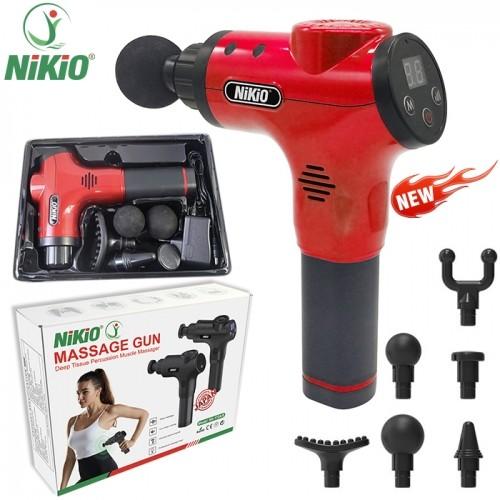 Video video review súng massage cầm tay 6 đầu, 5 chế độ nhật bản nikio nk-170b