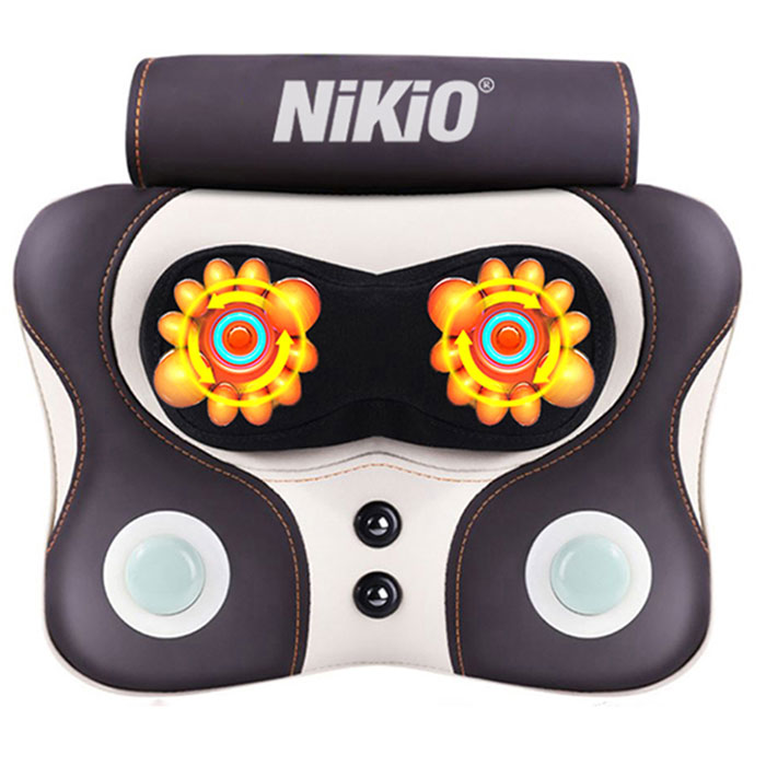 Video Máy massage xoay và đấm bóp lưng cổ vai gáy pin sạc Nikio NK-136DC