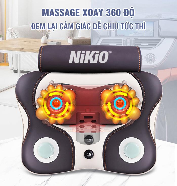 Video máy mát xa đấm bóp xoay dây ấn cổ vay gáy Nhật Bản Nikio NK-136AC