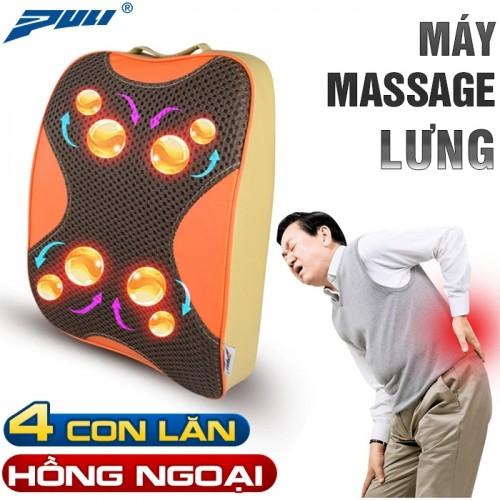 video máy massage lưng hồng ngoại xoay day ấn 8 bi puli pl-803a-w - hàng cao cấp hàn quốc