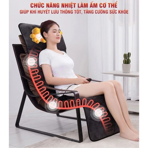 nệm massage toàn thân hồng ngoại có gối mát xa cổ nikio nk-151 - hàng cao cấp nhật bản