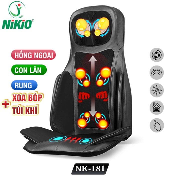 review ghế massage toàn thân cao cấp nhật bản nikio nk-181 - xoa bóp, đấm bóp, áp suất khí, nhiệt hồng ngoại