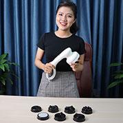 VideoReview độ phê của máy massage cầm tay pin sạc 8 đầu Puli PL-667DC3
