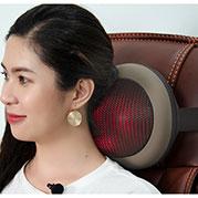 VideoGối massage hồng ngoại Hàn Quốc Puli PL-819C - 6 bi model 2019