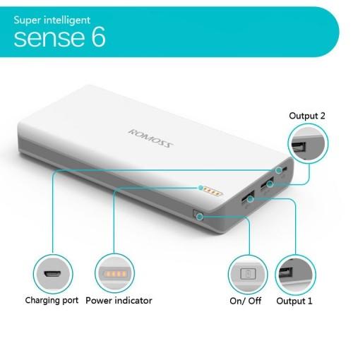 Video Pin sạc dự phòng Romoss Sense 6 - 20.000mAh