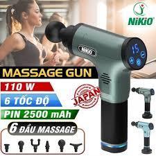 Video video súng massage gun pin sạc nikio nk-172 - giảm đau cơ, phục hồi cơ bắp sau tập luyện