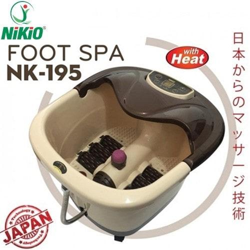 Video bồn ngâm chân massage Nhật Bản Nikio NK-195 - Hỗ trợ điều trị phong thấp, loại bỏ đau nhức chân