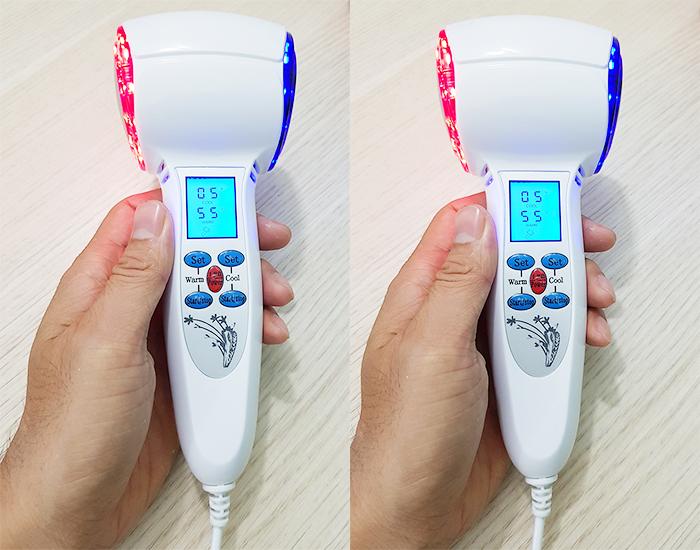 Video búa nóng lạnh 2 đầu trẻ hóa da bằng ánh sáng sinh học Hàn Quốc Hot&Cold
