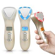 Video búa nóng lạnh điện di kết hợp sáng sinh học massage trẻ hóa da mặt D002