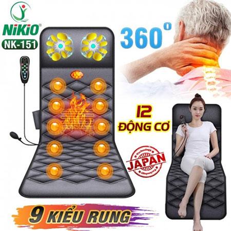 Video review nệm massage toàn thân có gối massage cổ Nikio NK-151 - Rung và nóng