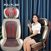 Video video ghế massage hồng ngoại mát xa cổ, lưng, mông hàn quốc puli pl-887
