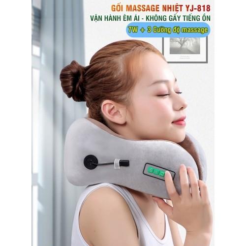 video gối ngủ massage chữ u yijia yj-818 - thiết bị điều trị đau mỏi cổ khi đi máy bay, tàu xe