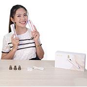Video máy hút mụn mini 4 đầu kết hợp đầu massage nóng lạnh SLL-21 từ Hàn Quốc
