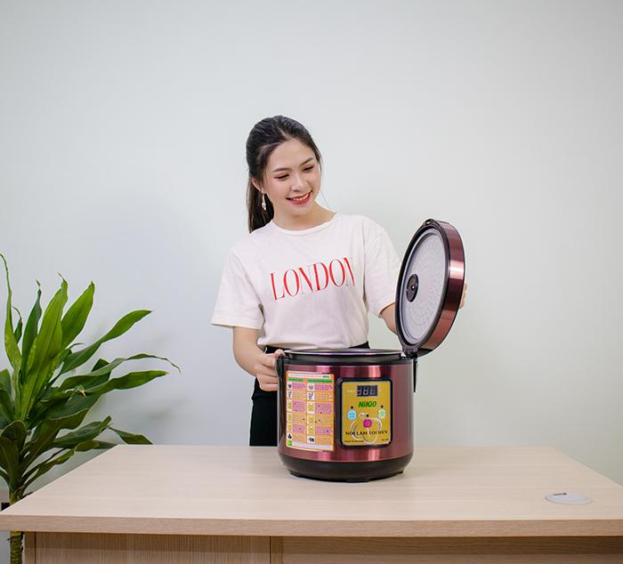 hướng dẫn cách làm tỏi đen cô đơn tại nhà dễ dàng với nồi làm tỏi đen nikio