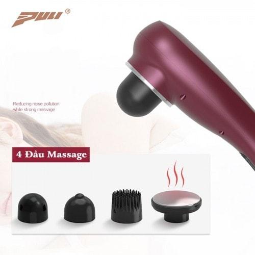 Video video máy massage cầm tay toàn thân pin sạc 4 đầu puli pl-622 - có đầu nóng tới 60 độ