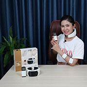 Video máy massage cổ trị liệu Hàn Quốc pin sạc Puli PL-758