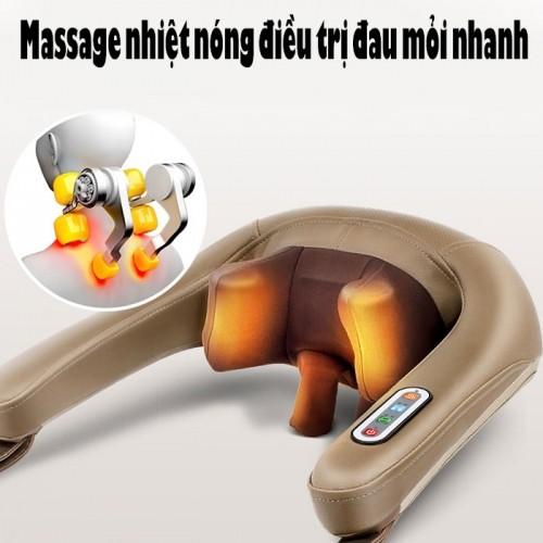 Video máy massage xoa bóp dây ấn cổ vai gáy pin sạc Ming Zhen MZ-666C
