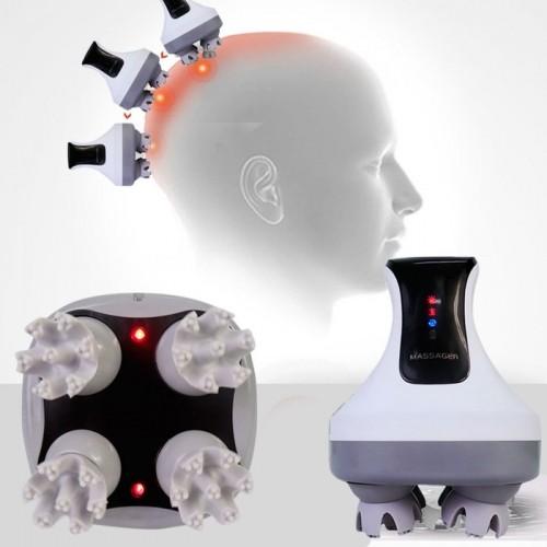 Video máy massage đầu giảm stress, trị đau đầu cầm tay pin sạc 4D Ghen Qiang B26