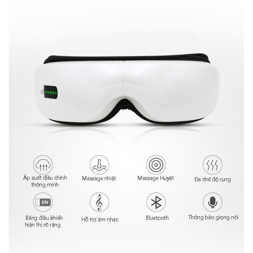 Video máy massage mắt áp suất khí sưởi nóng bluetooth eye care - giảm đau mỏi mắt, cải thiện thị lực